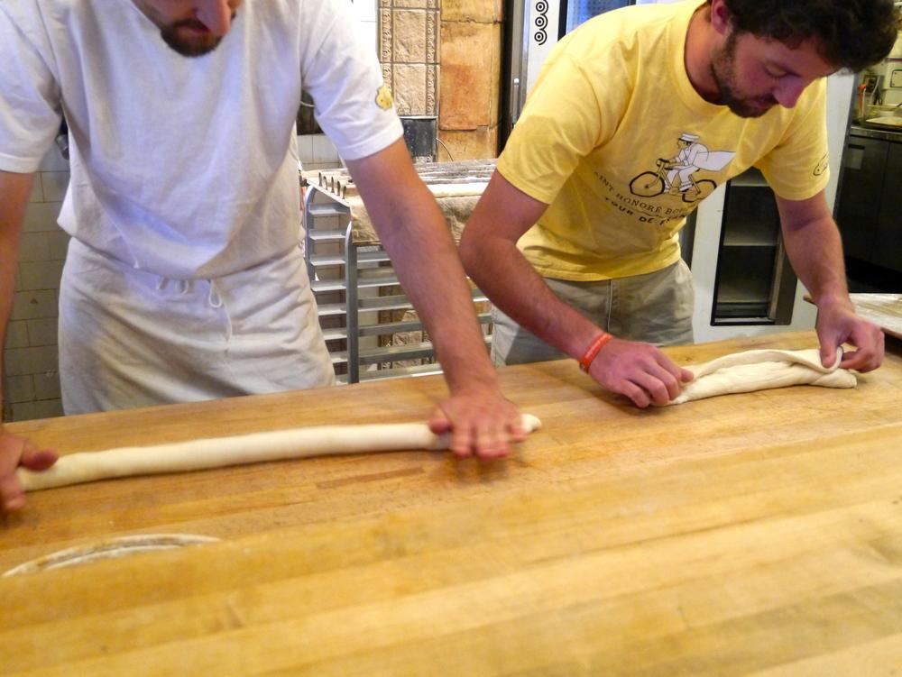 Baguette bakers hard at work