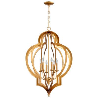 Cyan DesignVertigo Gold Leaf Chandelier