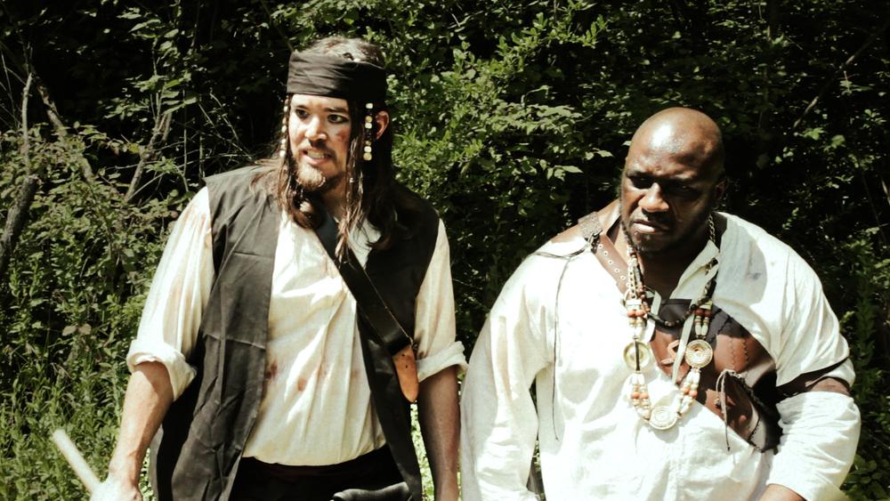 A stalwart pirate crew.