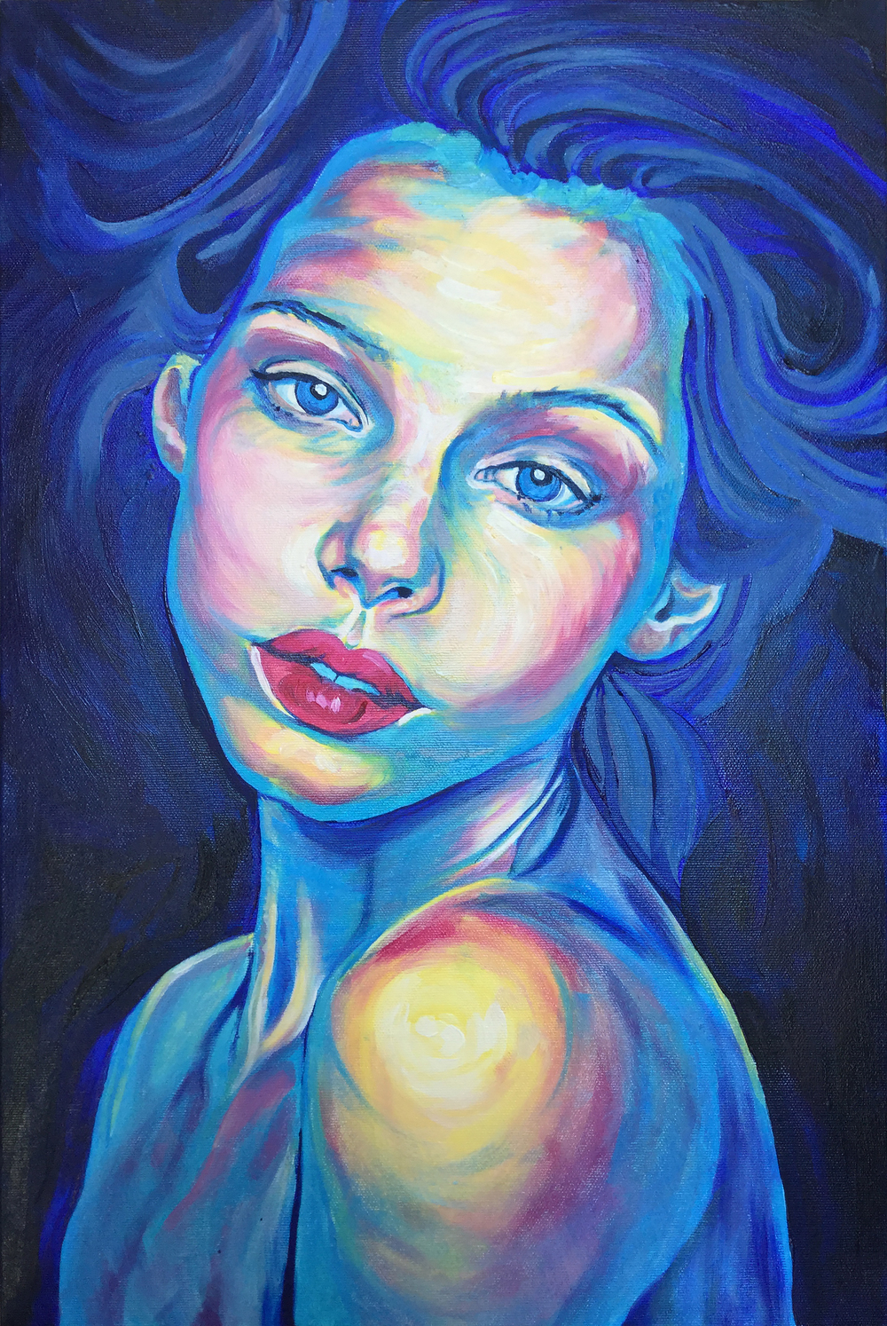 """""""LOVE""""  40w x 60 cm - Oil on Canvas   *SOLD"""