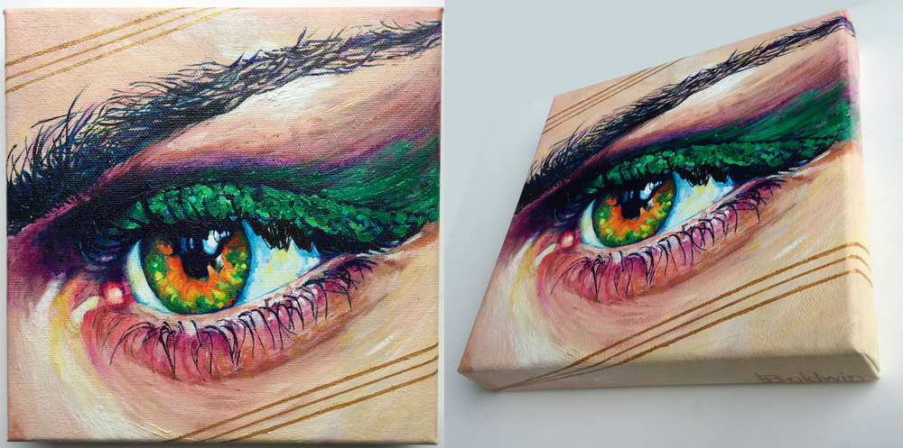 EYE STUDIES    20 x 20 -Oil on Canvas  Series exploring combining a hard edged method. *ALL SOLD