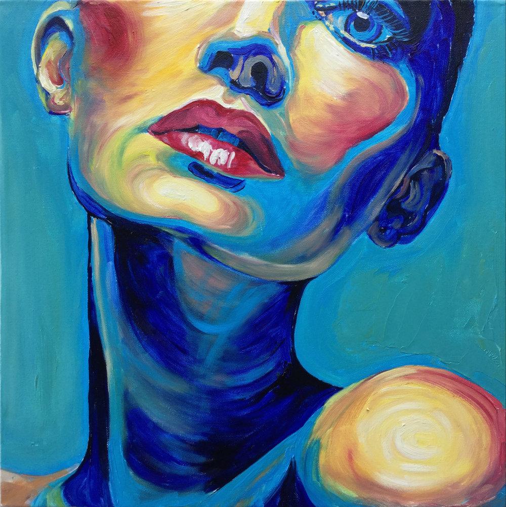 """NECK""   45w x 45 cm - Oil on Canvas"