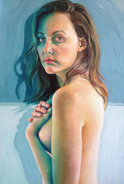 """SPLIT"" : Oil on Canvas 70 x 40  *SOLD"