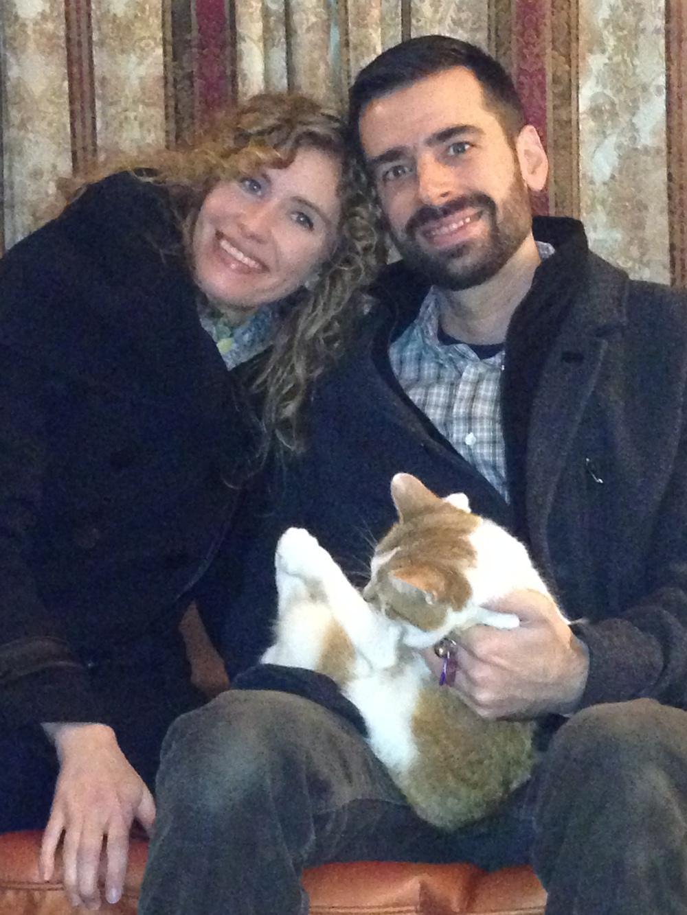 Kristin et Pete la`-bas vers la France