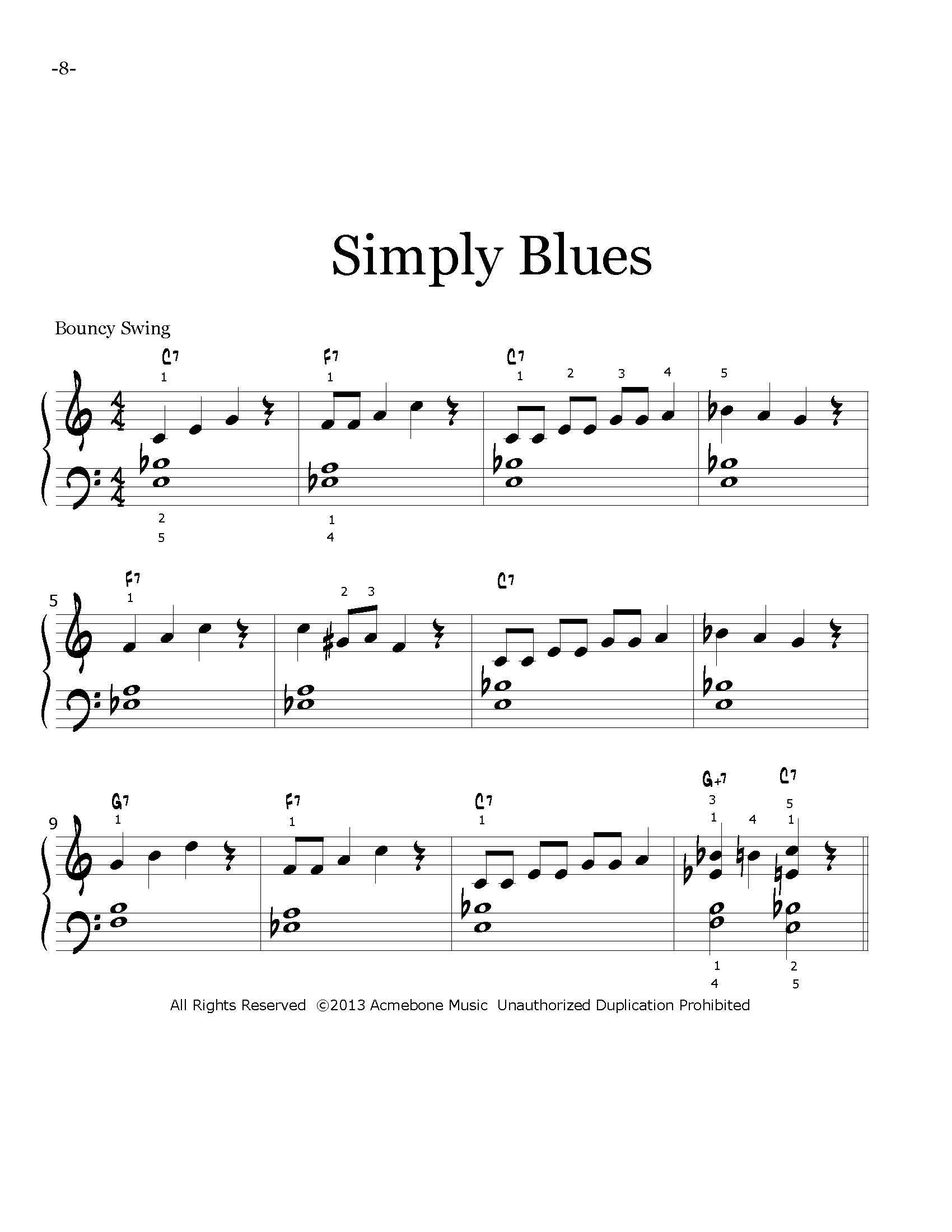 Progressive Jazz Etudes for Piano Bk1 page — :acmebone