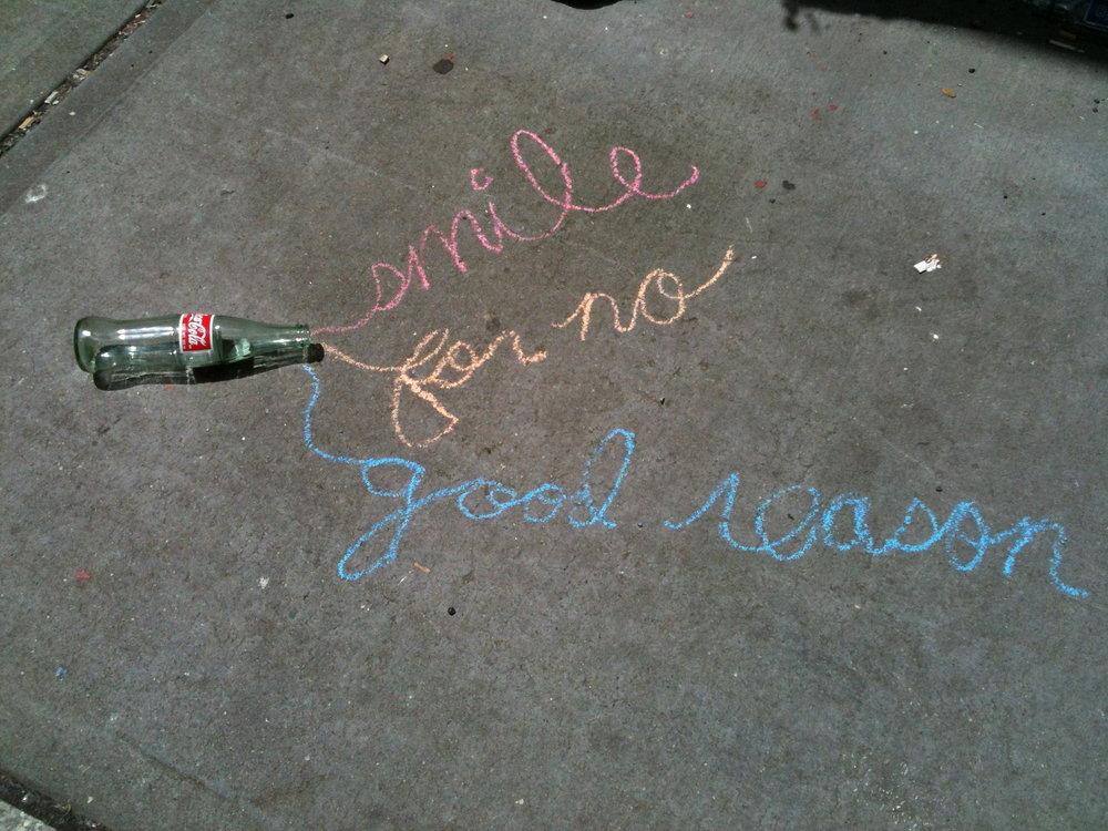 """Smile For No Good Reason"""