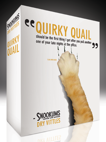 Snookums boxed dry food