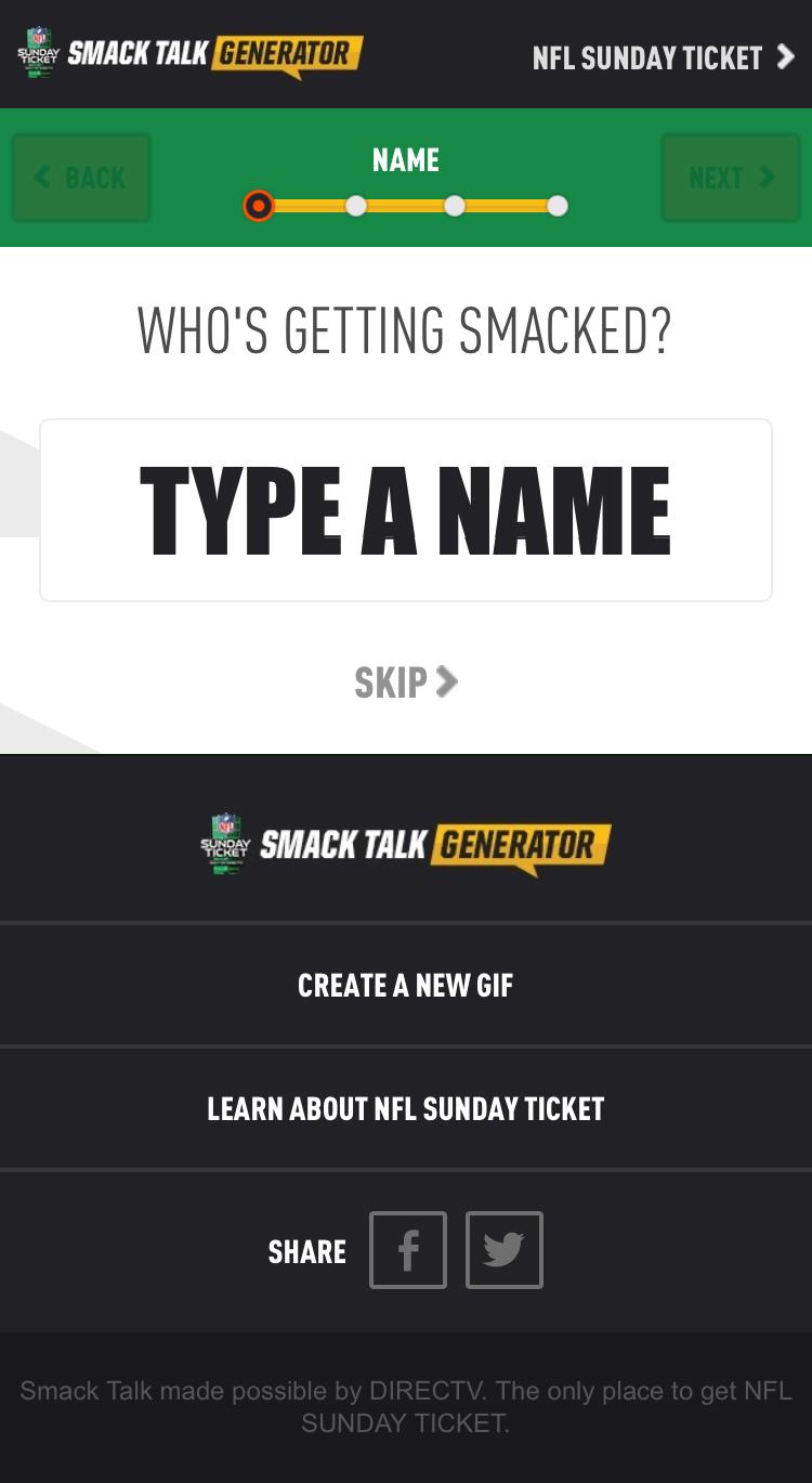 Enter a name