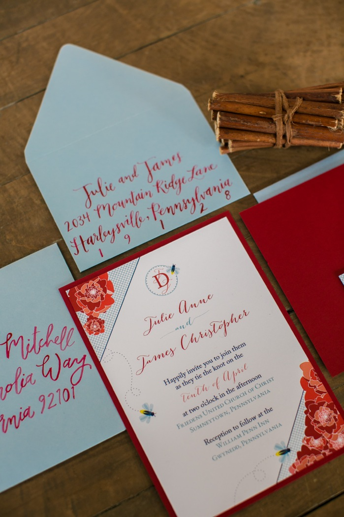 invitations: tootsie & marie // calligraphy: hello, bird. // photo courtesy of isabel march photography