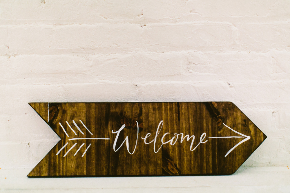 hand-painted signage calligraphy by hello, bird. // photo by redfield photography