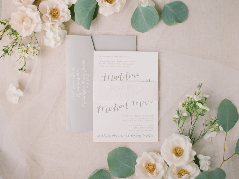 Madeline + Mike's invitation suite by hello, bird. // photo courtesy of Emily Wren Photography