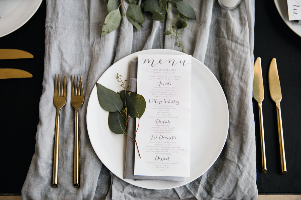 hello, bird. menus + textiles // photo courtesy of Love Me Do Photography