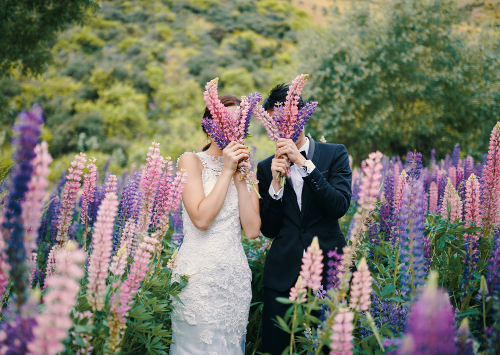 Queenstown Wedding Photographer Lupins