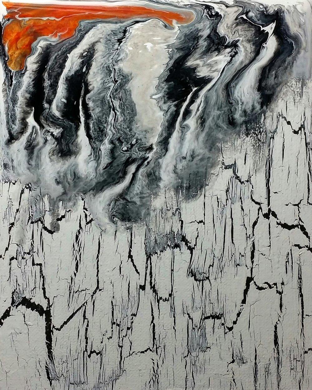 "RIDGE / acrylic / 8"" x 10"" on canvas board"