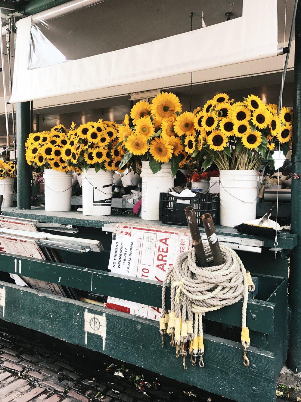 Seattle Pike Place Market Flowers Sunflowers