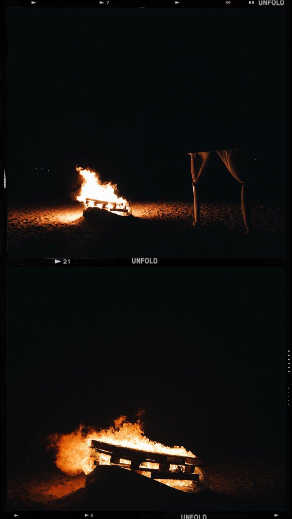 Turks and Caicos Night Beach Bon Fire
