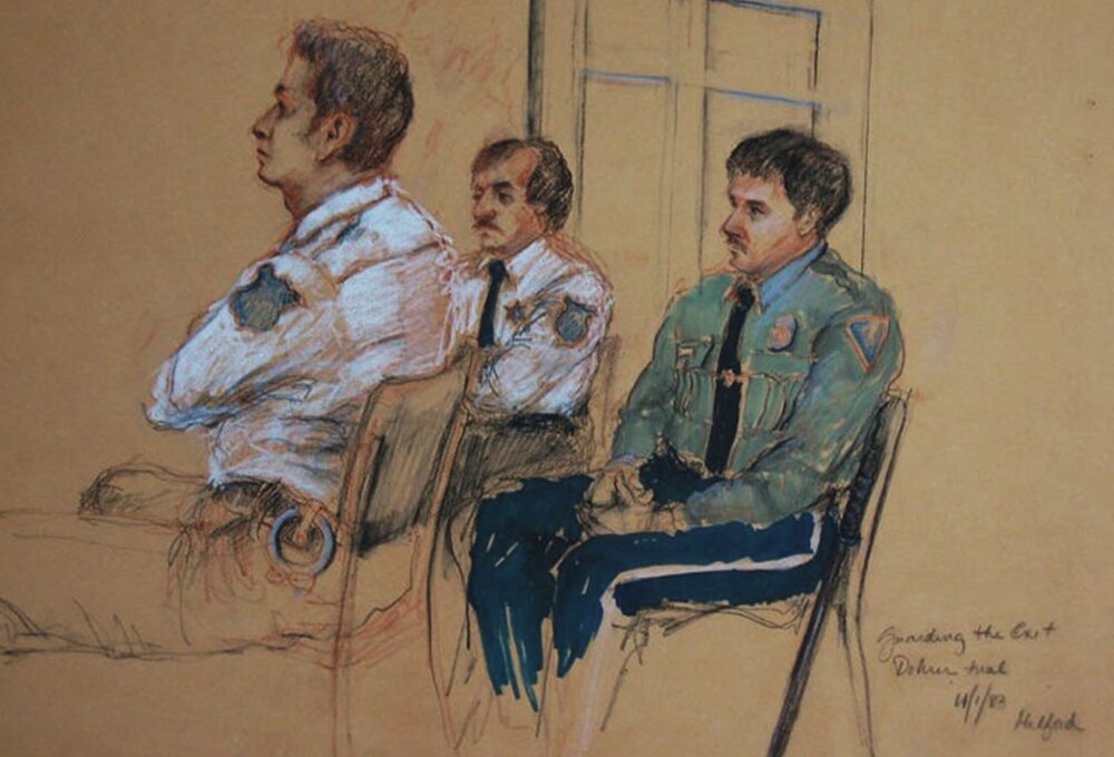 Guards waiting, Dohrer Trial
