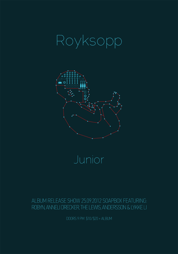 2dots :       Royksopp - Junior  album cover designed by Mara Paragioudaki     Great days ahead!!