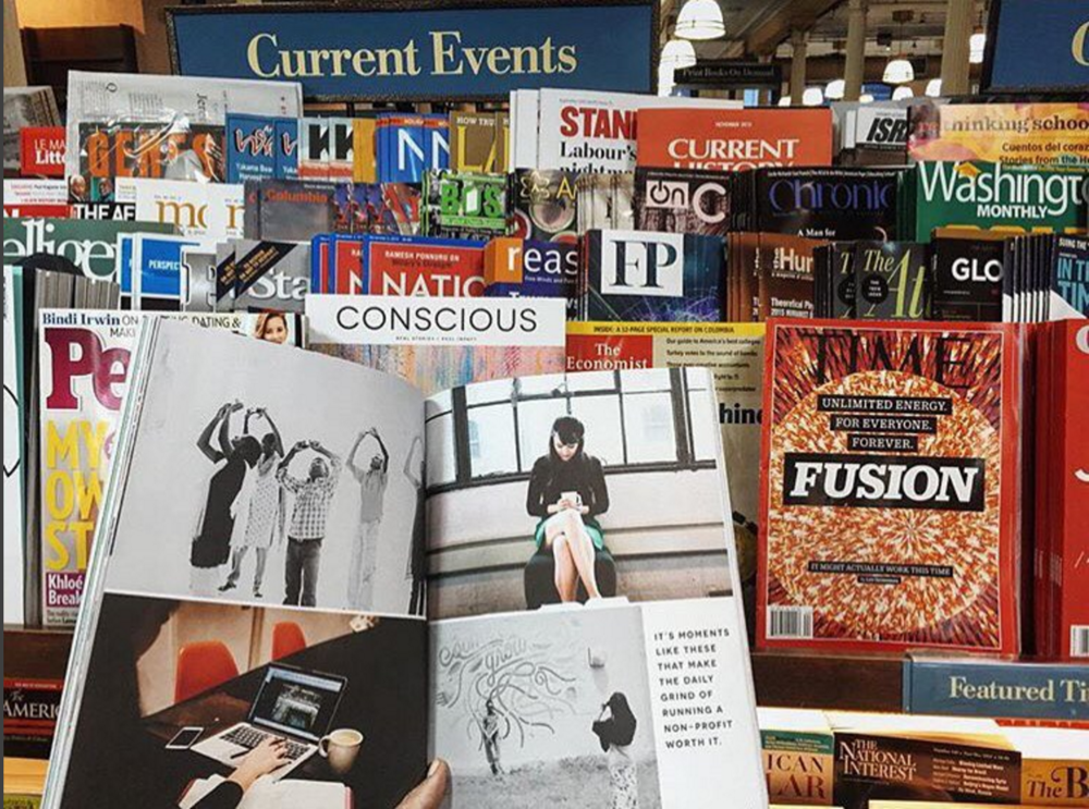 100cameras Featured in Conscious Magazine at Barnes & Noble, Union Square, NYC