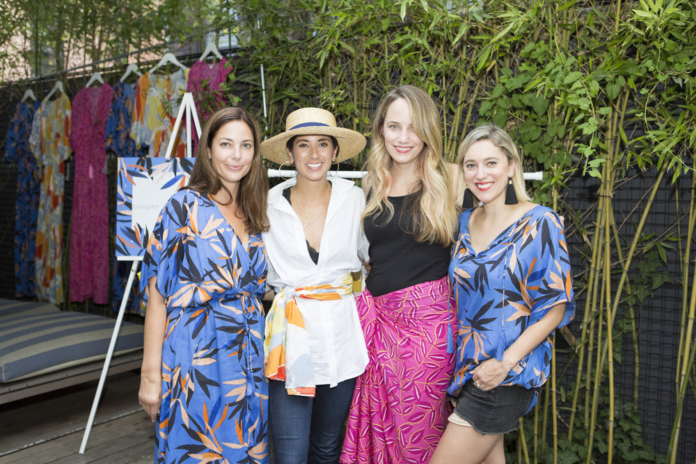 Bloggers   Grace Atwood, Krystal Bick, Christine Cameron collaborated on the collection. PIctured here with  cooper & ella  founder and designer, Kara Mendelsohn.