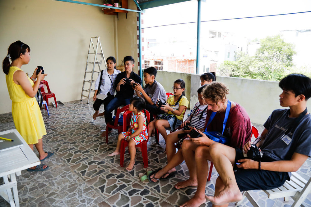 Students learn during Snapshot Hoi An in partnership with Bright Futures For Kids.