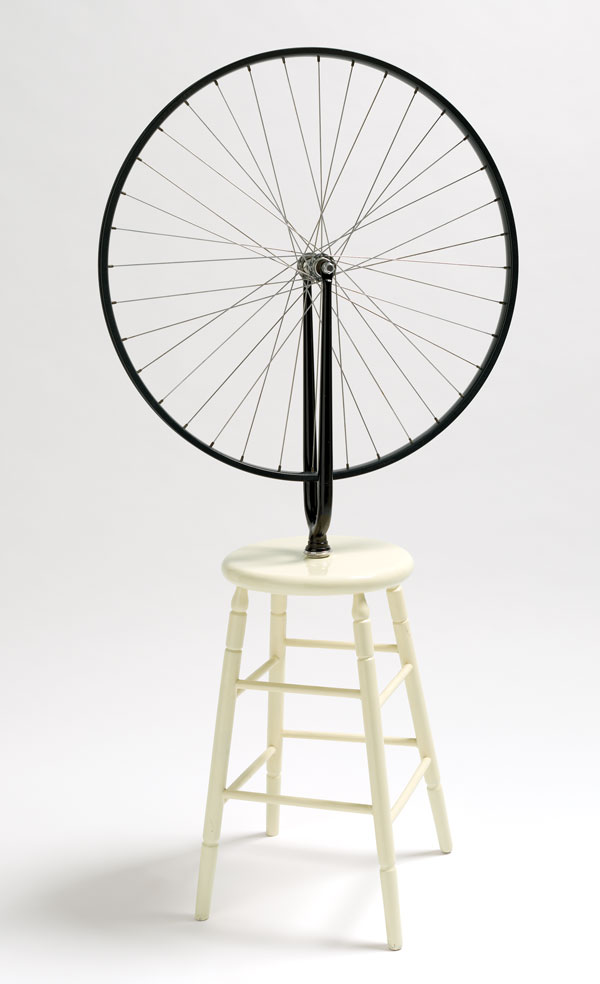 Marcel Duchamp,  Bicycle wheel , 1913 reconstructed 1964 Collection: National Gallery of Australia, Canberra Purchased 1973 (c) Succession Marcel Duchamp/ADAGP/Paris, Licensed by Viscopy, 2013
