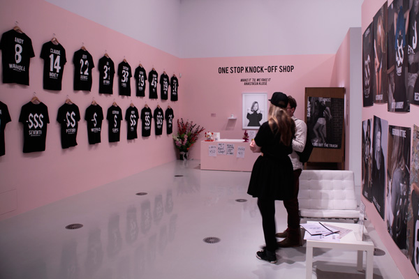 Anastasia Klose,  One Stop Knock-Off Shop , 2013 (install) Photograph: Maura Edmond
