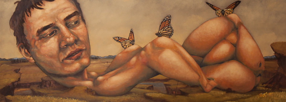 "Good To Have Friends oil on canvas - 70"" x 25"""