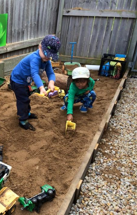 Providing SPACE, TIME and NATURAL MATERIALS allows for CHILD LED EXPLORATION and PLAY