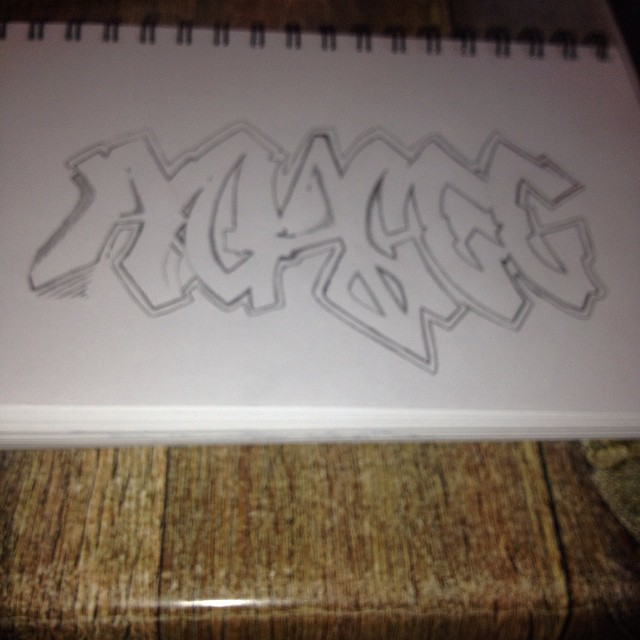 Use to get in trouble doing graffiti as a young teenager…had to run off a few buses and trains with @mr77312 slight rebellion lol #agacee #art just did this. Should have been writing lol