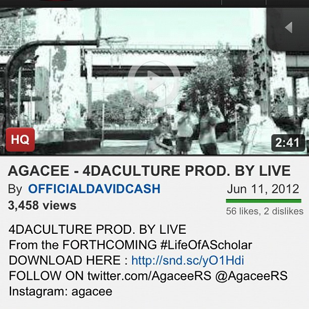 You see the views on #4daCulture watch this video on YouTube let's get the views up (Taken with Instagram)