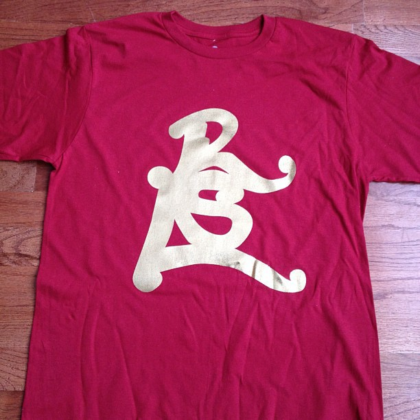 """Red Gold"" #rsl signature logo on sale $20 reg. price $29.99 roadscholar.bigcartel.com (Taken with Instagram)"