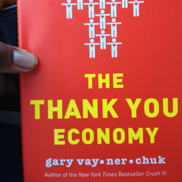 "@garyvee Bout to dig in to this book ""The Thank You Economy"" #scholarlife"