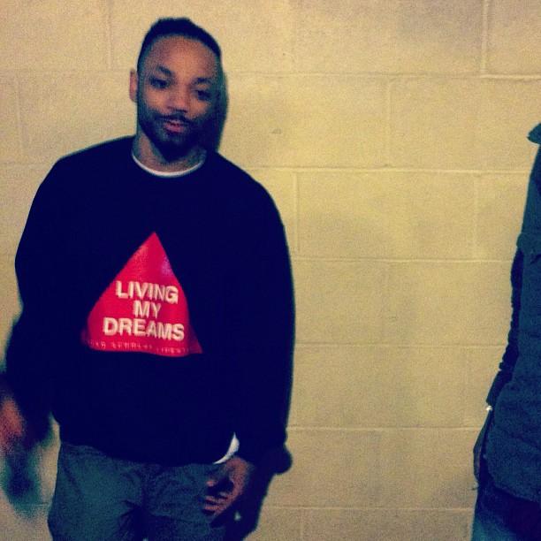 The homie Stevie of @stranjfruit rockin #livingmydreams crew #rsl