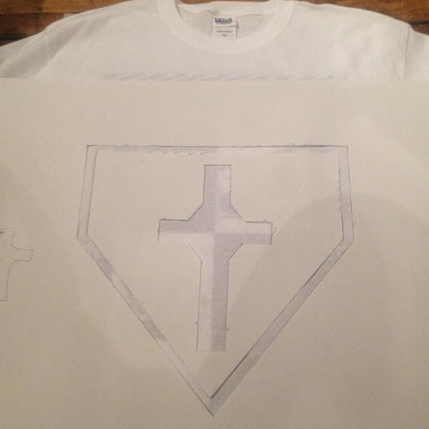 My custom design paper stencil before