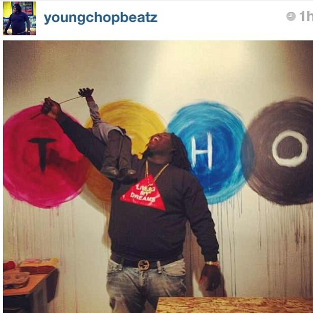 The homie @youngchopbeatz rockin that #livingmydreams crew #rsl #scholarlife #igsneakercommunity