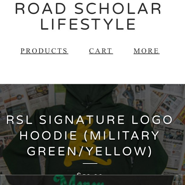 The shop even looks good on mobile devices #rsl #roadscholarlifestyle #fashion #entrepreneur #treplife #igstreetwear