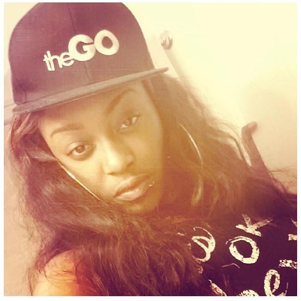 My beautiful lil sister reppin #theGO @dee_clarkkk #streetwear #snapback #fashion