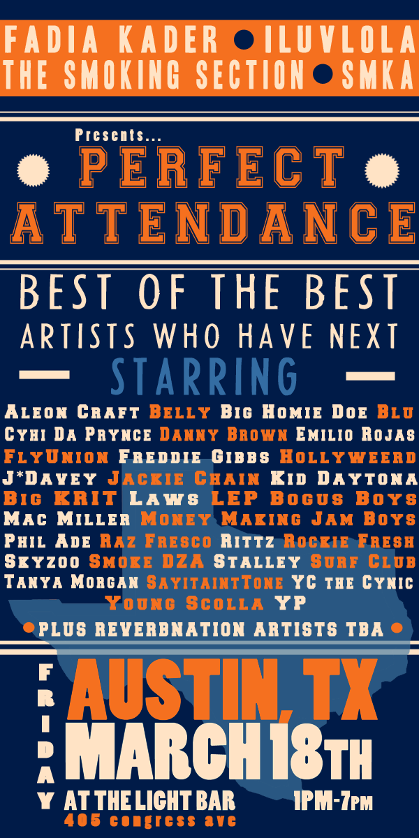 fadiakader: follow this page for all things PA and SXSW! perfectattendanceshow: Perfect Attendance @ SXSW - check this page for the updates we may have and to see who is performing!