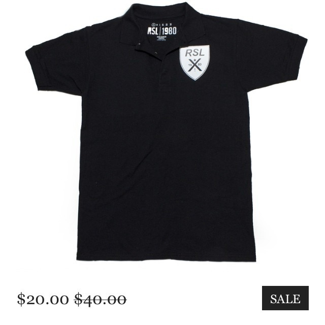 #cybermonday black polo rslbranded.com #sale #shop #halfprice