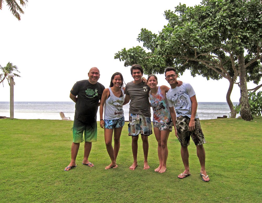 (L-R): Vince from Balikbayan, Carmen, Thomas (GM of Punta Bulata), Nixee, and me