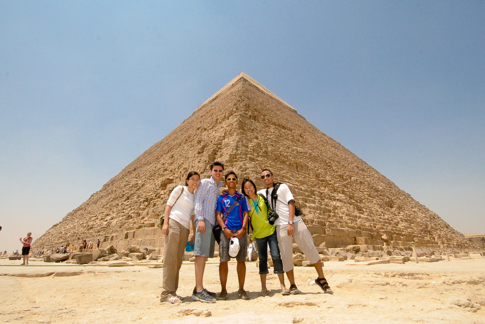 My friends and I during our trip to Egypt in 2008. We've all since gone on to travel or live abroad for some periods of time!