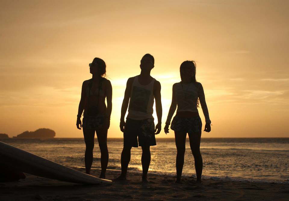 Sunset posing with my friends at Punta Bulata, Negros Occidental