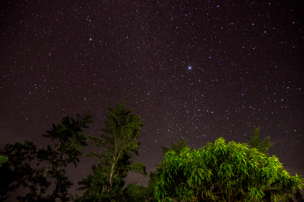 Starry night, as seen from the road in Liw-liwa.