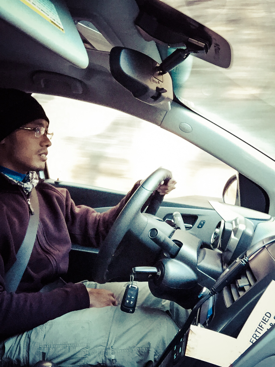 CH took a photo of me driving. So maybe it  wasn't  figuratively speaking...
