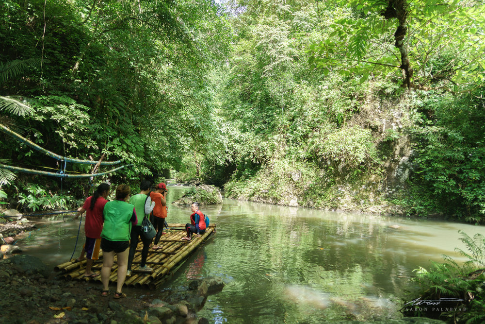 The first of several raft crossings