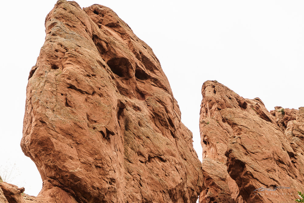 A literal rock face. When you see it... Creepy.