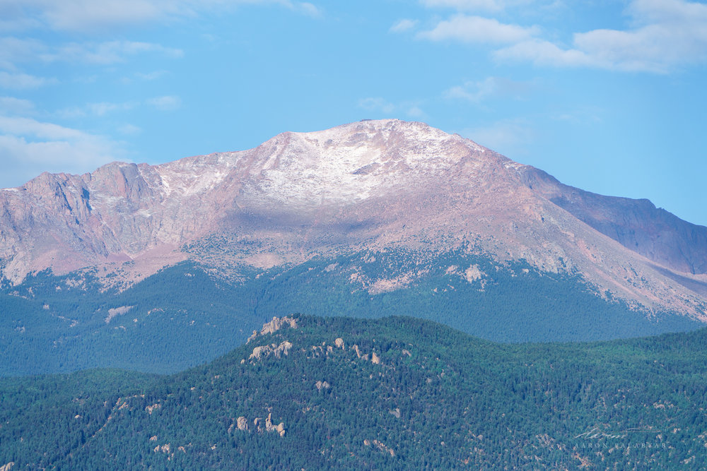 Pike's Peak on a clear late summer morning