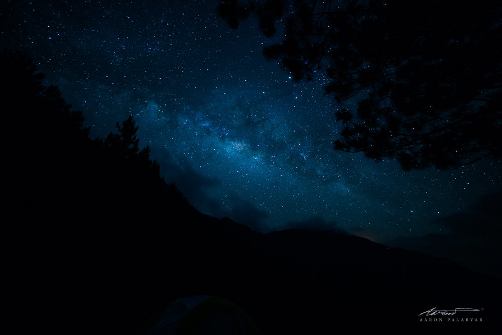 A more realistic impression of what the Milky Way looks like to the naked eye. Marlboro Camp, April 2016