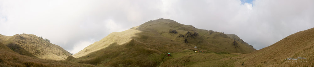 The summit of Mt. Pulag in all its majesty as we arrive at Saddle Camp.